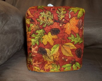 Fall leaves and pine cones  Tissue Box Cover