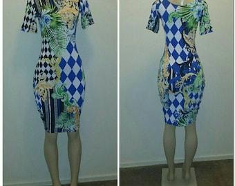 Printed Body Con dress
