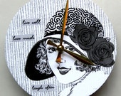 Wall clock. Live well, love much, laugh often.  Clock with a message.