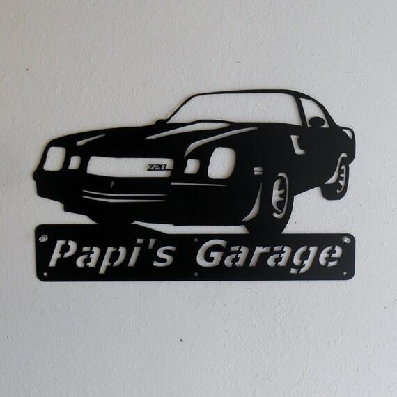 1980 Chevrolet Camaro Z28 Personalized Man Cave Classic  Garage Sign Satin Black