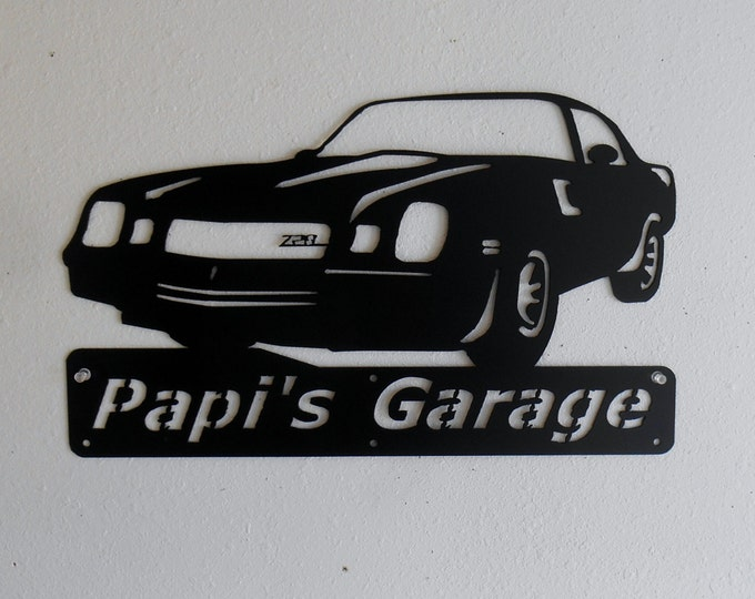 1980 Chevrolet Camaro Z28 Personalized Man Cave Classic  Garage Sign Satin Black