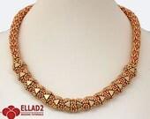Tutorial Adaliz Necklace - Beading Tutorial, Beading Pattern, Jewelry Tutorial,
