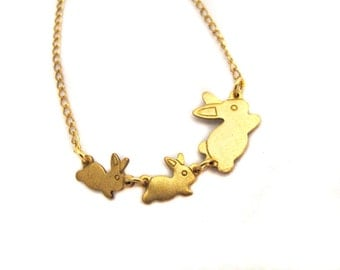 Baby Baby Bunny Necklace or Bracelet