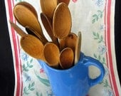 15 Old Wooden Spoons - Farmhouse Country Cottage Kitchen _Mix Stir Bake Utensils or Repurpose
