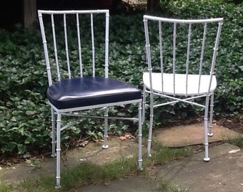 Iron Faux Bamboo Side Chair / Three Available Sold Separately