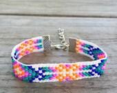 Summer Sunset Handmade Beaded Bracelet