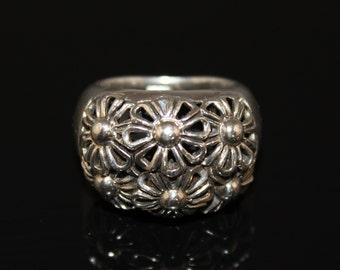 Designer Lanfeld Sterling Silver 925 Repousse Ladies Ring Size 7