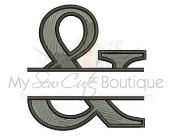 Ampersand Embroidery Design - Machine Embroidery Designs - 8 Sizes - Instant Download