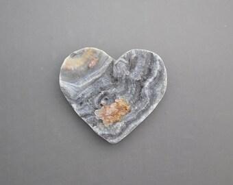Natural Chalcedony Drusy Heart