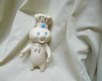 Vintage 1971 Pillsbury Doughboy Rubber Squeeze Toy, collectable