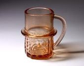 Vintage Mr. Peanut Pink Glass Mug - circa 1970's