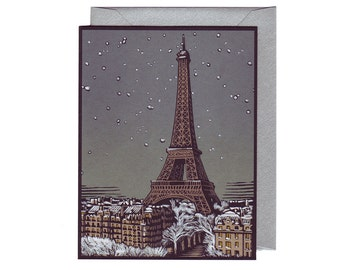 Paris in Winter- set of 5 cards with envelopes