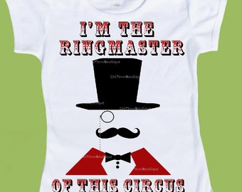 Ringmaster of this Circus Shirt Birthday T-Shirt,One Piece Baby,Tank or T-Shirt, Family Circus Shirts Adult Shirts  by ChiTownBoutique.etsy