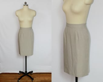 SALE - Vintage sand pencil skirt