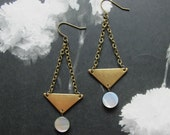 crazy on you triangle and bead earrings