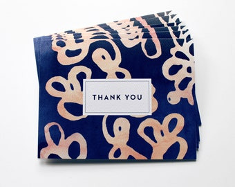 Thank You Cards, Thank You Notes, Watercolor Thank You Cards, Thank You cards set