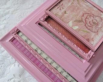 Pink Picture Frame Set, Light Pink Vintage Picture Frames