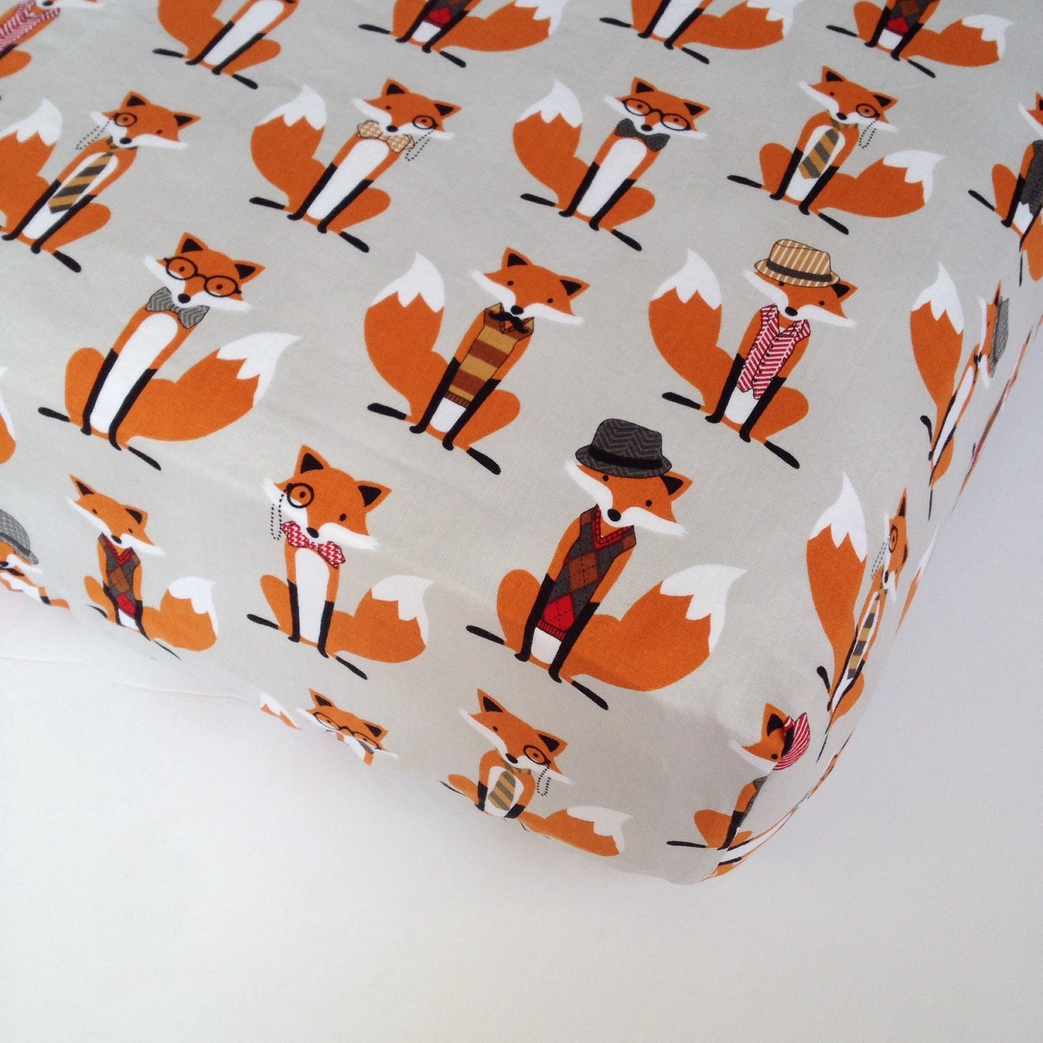 🔎zoom - What Does The FOX Say Crib Sheet Fox Crib Sheet / Nursery