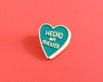Heart Shaped Metal and Enamel Pin