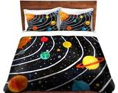 Solar System, Kids Duvet Cover, bedding for children, nursery decor