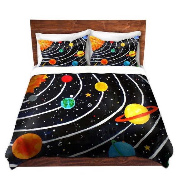 Solar System Kids Duvet Cover bedding for children by nJoyArt