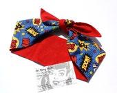 Vintage Inspired Headscarf, Headwrap, Pow, Comic, Retro, Rockabilly