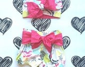 This n' That Baby Shorties with Sash and Matching Head Tie - Made to order