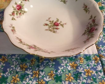 Vintage Soup Bowl Moss Rose Johann Haviland Bavaria Germany #3051