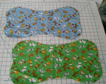 Dog Fabric Placemat with matching Bandana - Size Medium