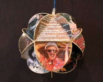 Village People Album Cover Ornament Made Of Record Jackets