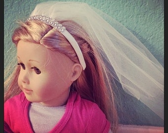 Doll veil headband american girl