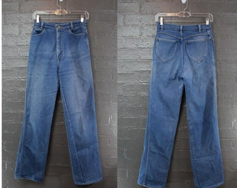 SALE Vintage 70s High Rise Jeans By Stockton of Dallas