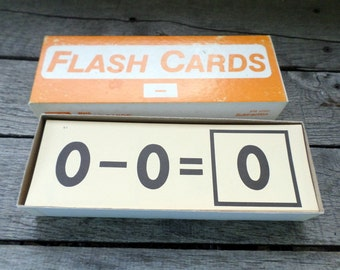 Subtraction Flash cards vintage Complete 100 Card set ETA Flashcards Flash Cards Math homeschooling scrapbooking preschool daycare