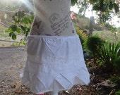 white embroidery pixie mini skirt
