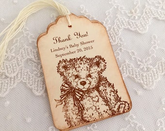Teddy Bear Tags Favor Tags Neutral Boy or Girl Set of 10
