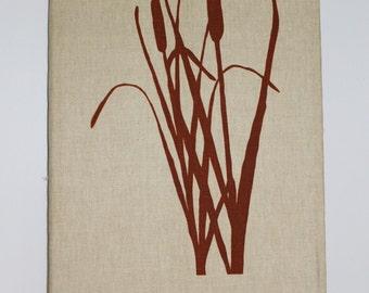 Vintage Cattails On Canvas Print