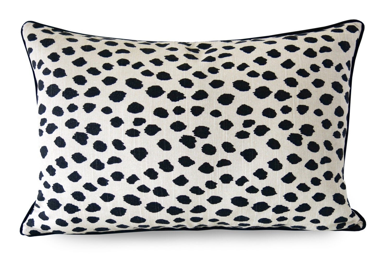 Black And Beige Decorative Pillows : Duma Spots Pillow Cover Black and Beige with by WillaSkyeHome