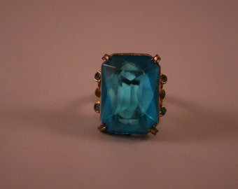 Amazing Vintage Blue Princess Ring