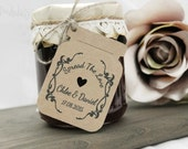 Wedding Favour Jam Jar Gift Tags Thank You Tags 'Spread The Love' Set x32 Favour Tag