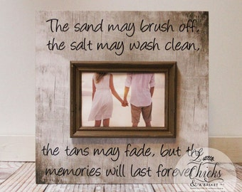 The Sand May Brush Off Picture Frame, Family Beach Vacation Frame, Beach House Decor