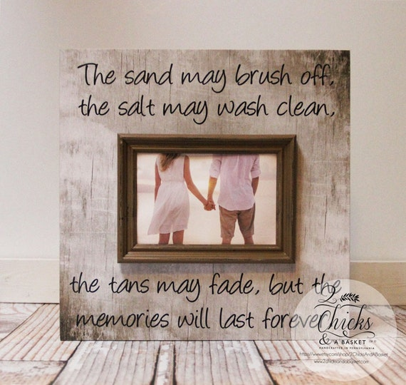 The Sand May Brush Off Picture Frame