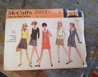 Vintage McCall's 2073 Misses' and Junior Separates Sewing Pattern Size 14 Bust 36