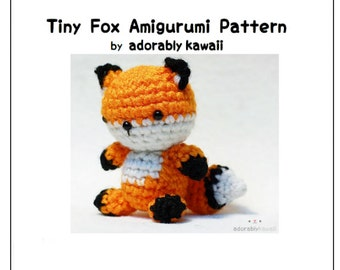 Tiny Fox Amigurumi Pattern, Crochet Fox Pattern, DIY Jointed Fox Pattern, Cute Tiny Animal Crochet Pattern, Amigurumi Crochet Pattern
