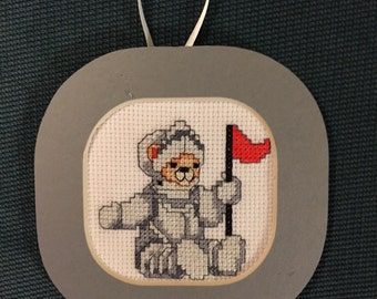 Armor Bear Cross Stitch Ornament