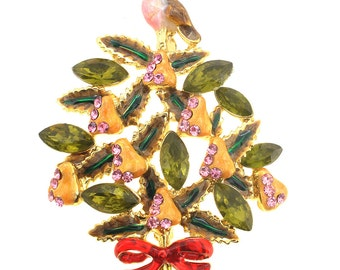 Partridge In A Pear Tree Christmas Brooch 1004721