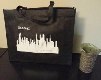 Chicago Skyline Tote Bag - Tote Bag - Chicago Tote Bag