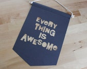 Everything Is Awesome! Cut Out Paper Banner  - Free postage *Aust Only