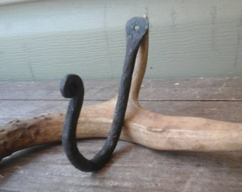 Hand Forged Wrought Iron Wall Hook