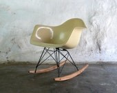 Eames for Herman Miller Fiberglass Armchair Rocker-RAR
