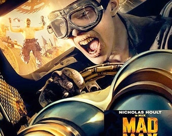 MAD MAX Fury Road - Steampunk Goggles - Nicholas Hoult 'Nux' Distressed Post Apocalyptic, World War III Cyber Riding Burning Man Goggles